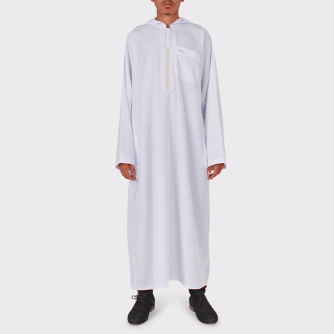 Hooded Thobe Arab Saudi Style Boys Jubba