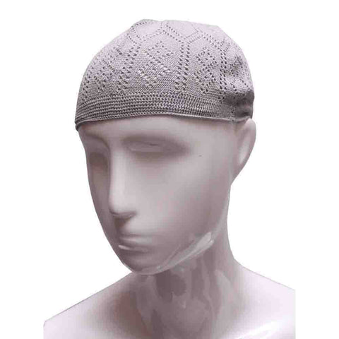 LIGHT GREY PRAYER HAT