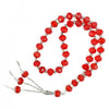 33 BEAD CRYSTAL TASBEEH / PRAYER BEADS - BLACK/RED/GREEN