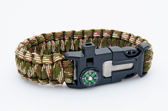 Para cord  Wristband - Compass Included