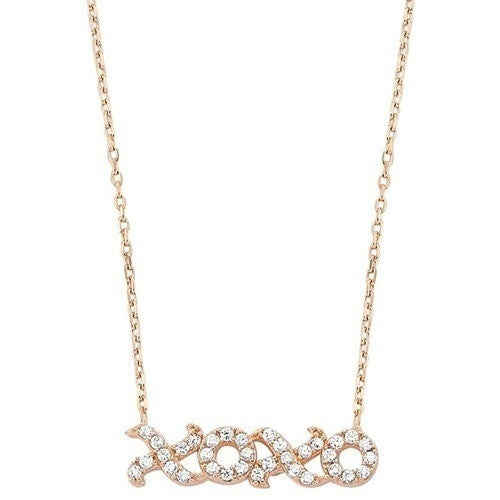 Rose Gold XOXO necklace
