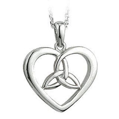 Sterling Silver Trinity Knot Heart Pendant