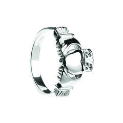 Heavy men's sterling silver claddagh ring