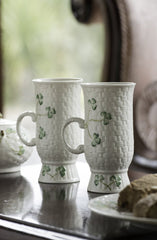 Belleek Shamrock Irish Coffee Mugs (Pair)