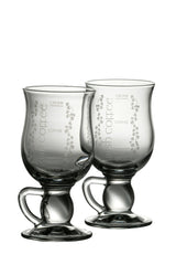 Irish Coffee Recipe crystal mugs