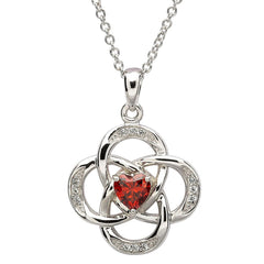 Sterling Silver Celtic January Birthstone Pendant