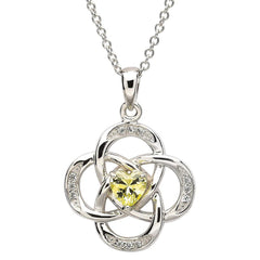 Birthstone Celtic pendant peridot august