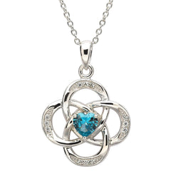 Celtic Knot Birthstone Pendant - December