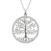 tree of life pendant with swarovski crystals