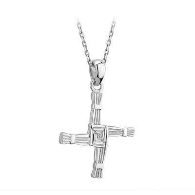 Sterling Silver St Brigid Cross Necklace