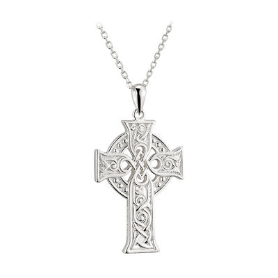 Sterling Silver Apostles Celtic Cross Necklace