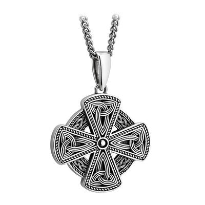 Sterling Silver Oxidized Celtic Cross Necklace