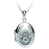 claddagh locket sterling silver