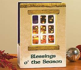 Blessings o' the Season Irish Tealight Holder