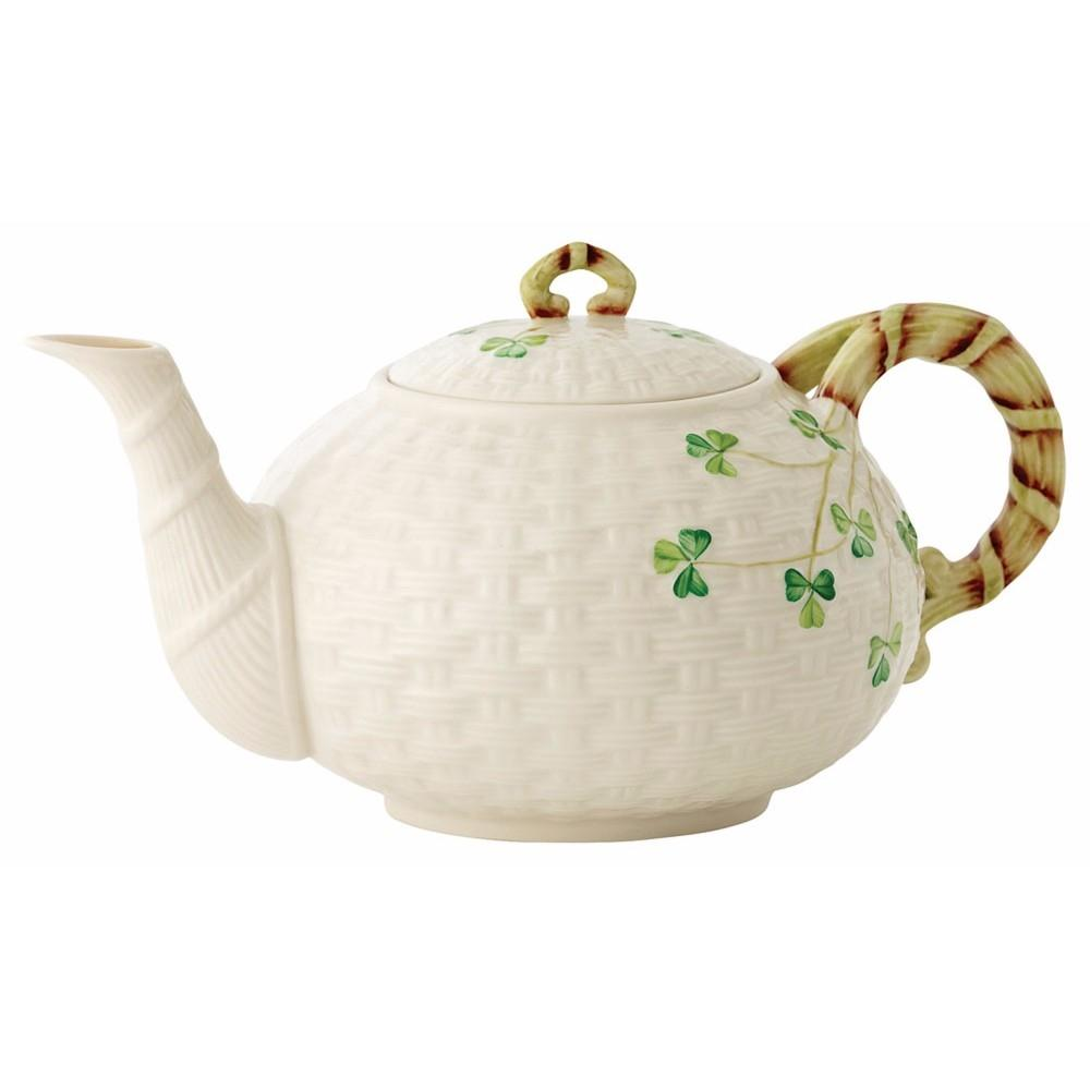 Belleek Large Shamrock Tea Pot