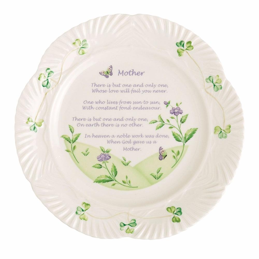 Belleek Mother's Plate