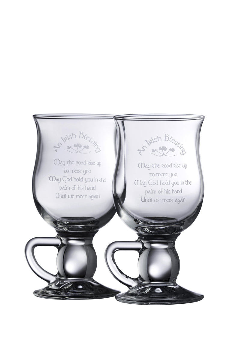 Galway Irish Blessing Latte Glasses (Pair)