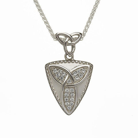 trinity knot necklace sterling silver