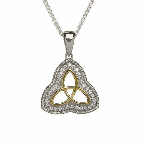 trinity knot pendant necklace two-tone