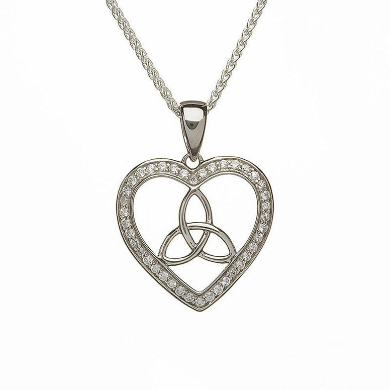 trinity knot pendant heart shaped