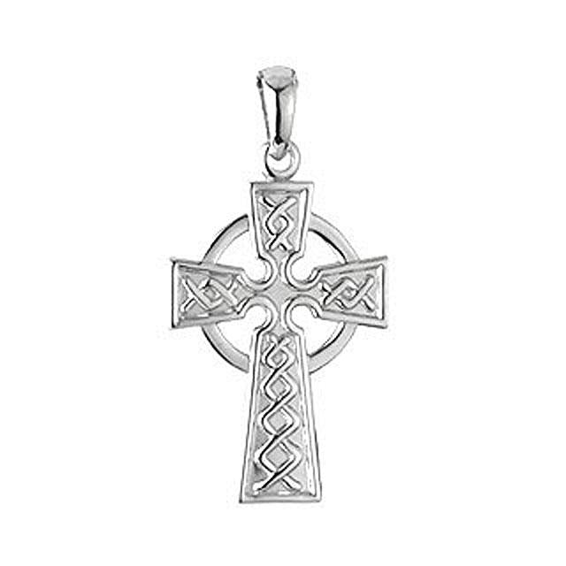 Sterling Silver Traditional Celtic Cross Necklace