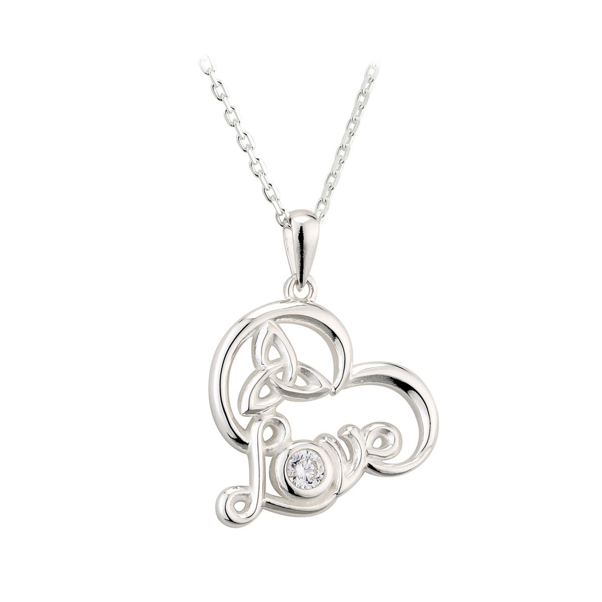 Sterling Silver Trinity Knot Love Pendant