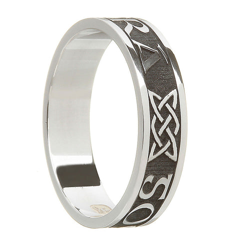 oxidized antiqued sterling silver women's gra go deo band ring