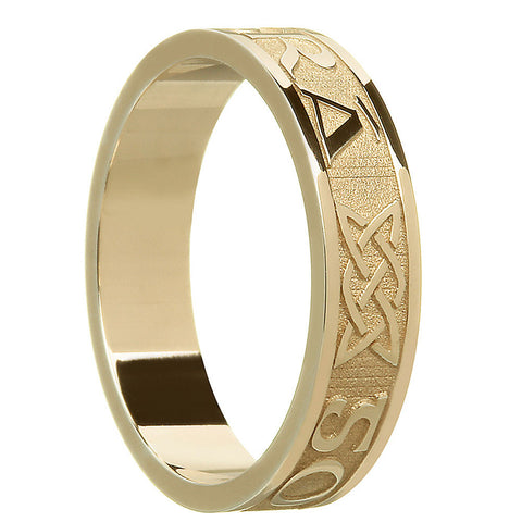 10k or 14k yellow gold women's gra go deo band ring