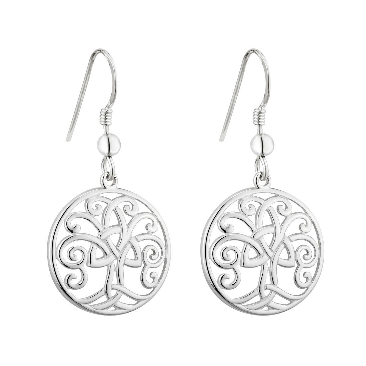 Sterling Silver Celtic Tree of Life Drop Earrings