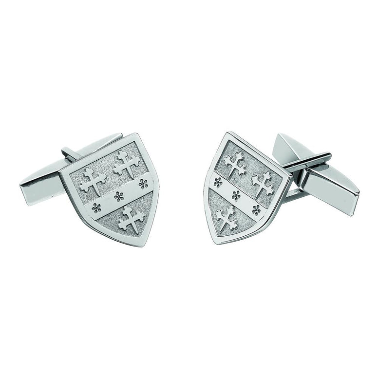 Sterling Silver Personalized Family Shield Cuff Links