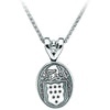 Sterling Silver Personalized Oval Family Crest Pendant Necklace