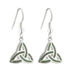 Sterling Silver Connemara Marble Trinity Earrings