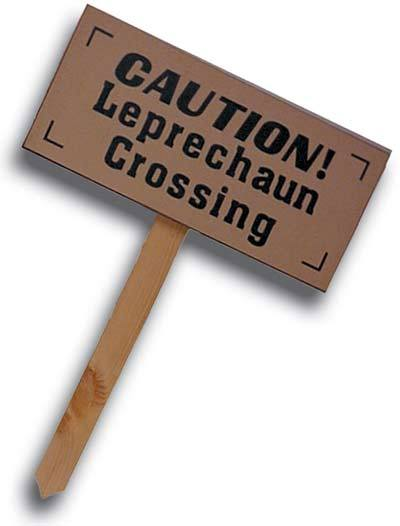 Irish Leprechaun Crossing Sign