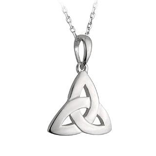 Sterling Silver Trinity Knot Pendant Necklace