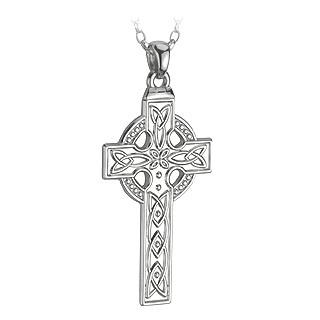 Men's Sterling Silver Heavy Celtic Cross Chain