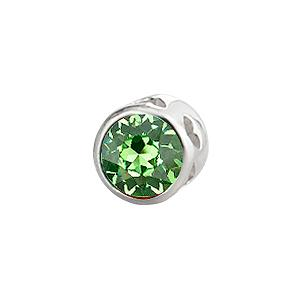 Sterling Silver Large Celebration Peridot Crystal - August