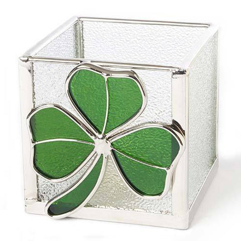 Glass Shamrock Votive