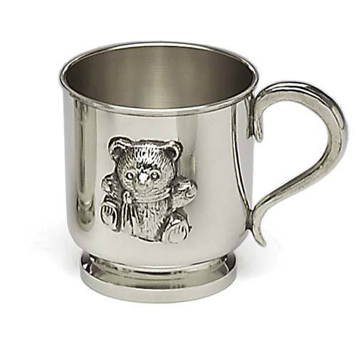 Teddy Bear Pewter Baby Mug