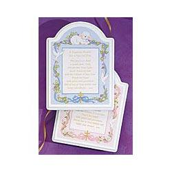 Baby Baptismal Plaque Sign
