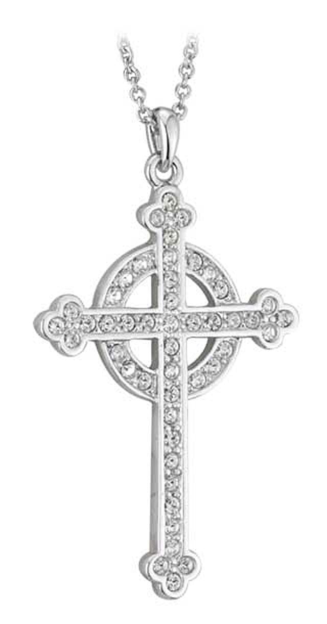 Silver Celtic Cross Wedding Pendant