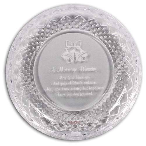 Claddagh Marriage Wedding Plate