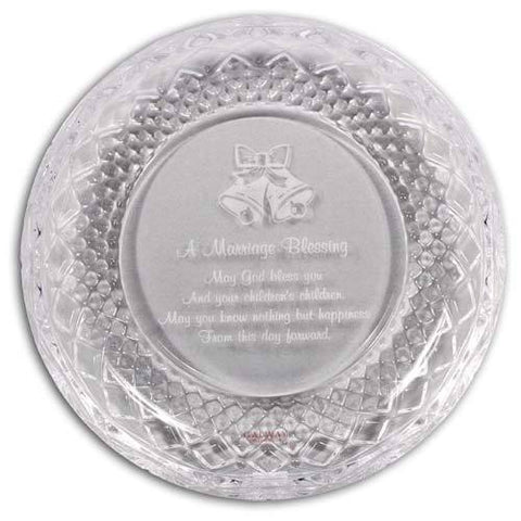 Galway Claddagh Marriage Plate 8""