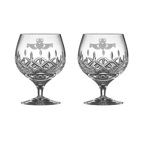 Galway Irish Crystal Claddagh Friendship Brandy Glasses