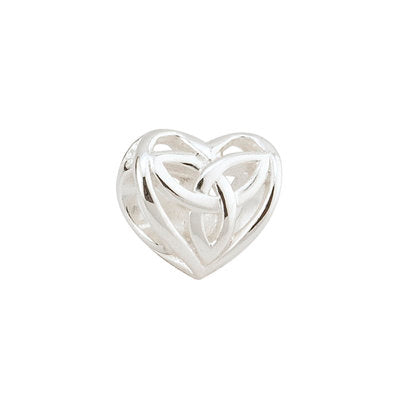 Sterling Silver Trinity Knot Heart Bead