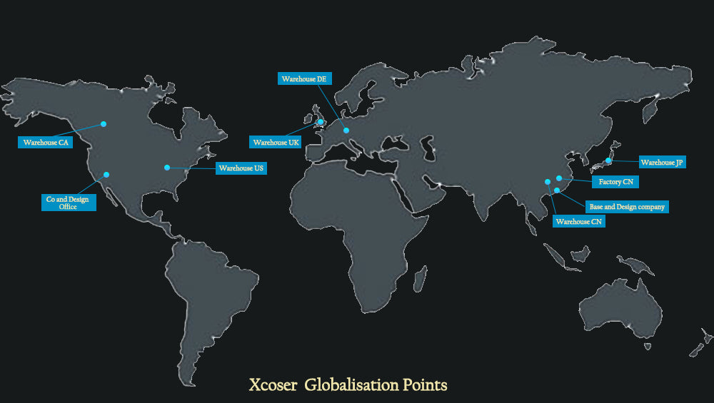 XCOSER-GLOBALISATION-POINTS-WAREHOUSE-FACTORY-DESGIN-OFFICE