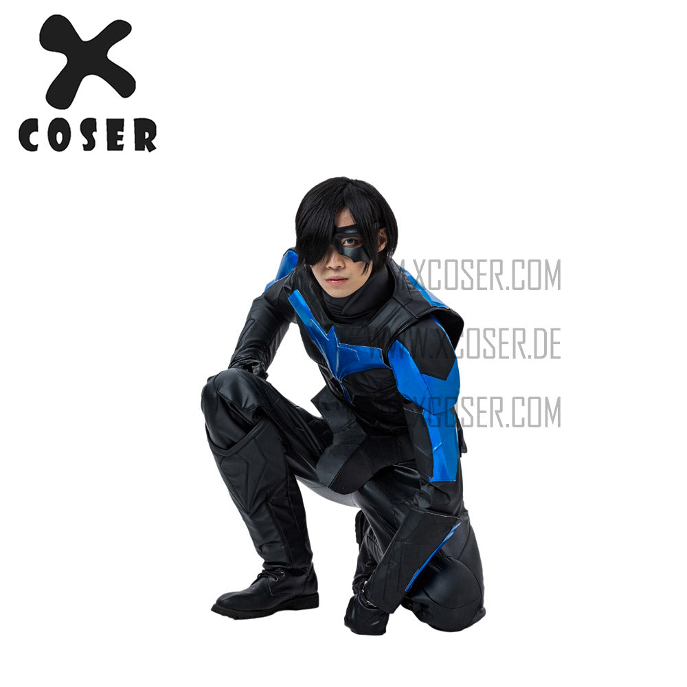 Xcoser Nightwing Cosplay Costumes Titans Season 2 Blue Suit - 5