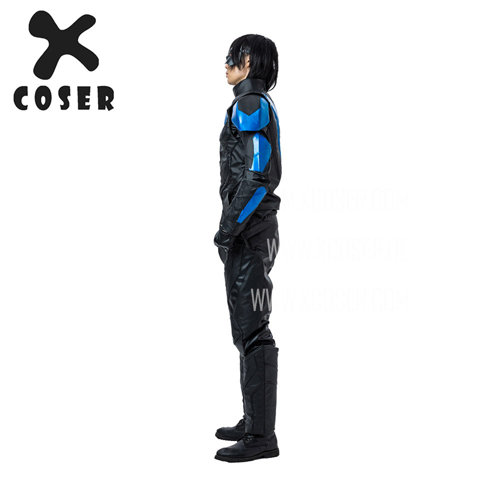 Xcoser Nightwing Cosplay Costumes Titans Season 2 Blue Suit - 6