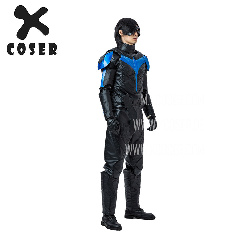 Xcoser Nightwing Cosplay Costumes Titans Season 2 Blue Suit - 9
