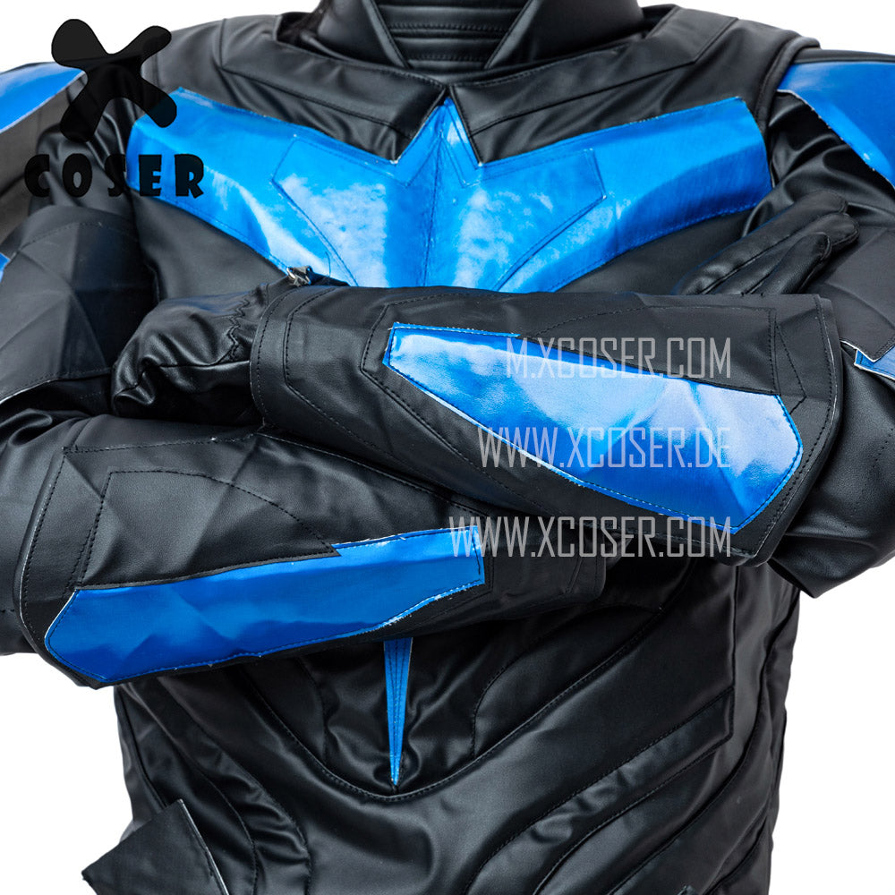 Xcoser Nightwing Cosplay Costumes Titans Season 2 Blue Suit - 13