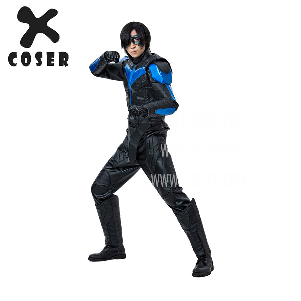 Xcoser Nightwing Cosplay Costumes Titans Season 2 Blue Suit - 3